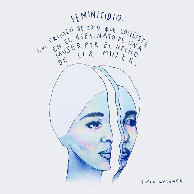 La violencia de género es uno de los temas de las ilustraciones de Sofia Weidner