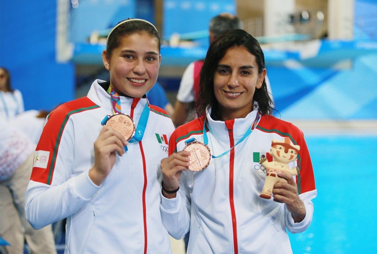 Paola Espinosa y Dolores Hernández se cuelgan el bronce en los Panamericanos 2019