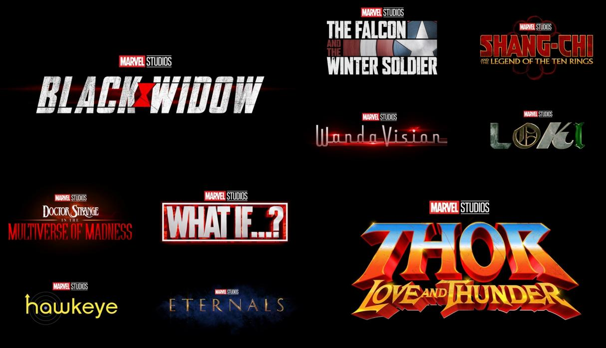 marvel fase 4 peliculas black widow, the eternals, thor,