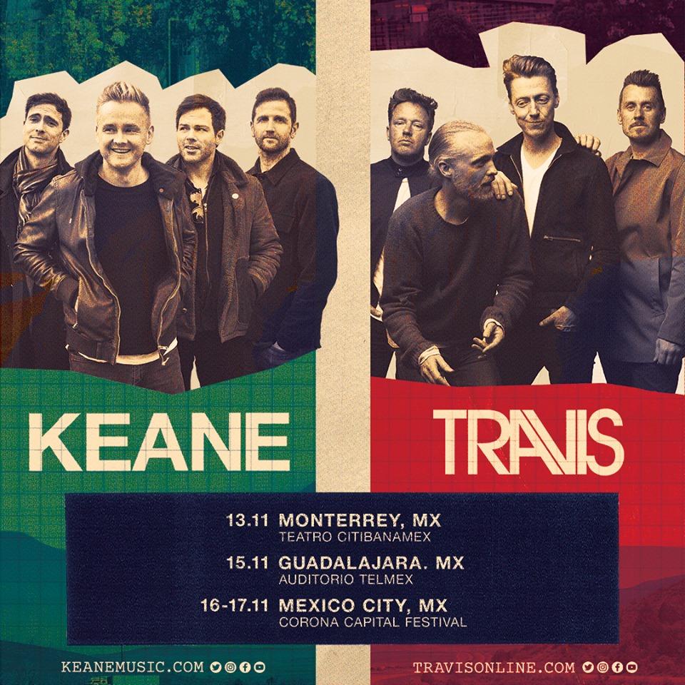 Travis y Keane se presentarán juntos en Monterrey y Guadalajara