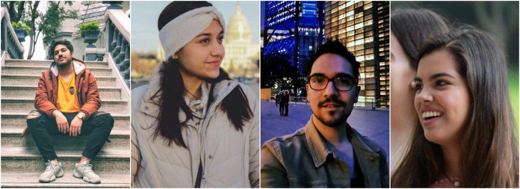 Joaquín, Mariana, José y Valeria estudiaron la uni lejos de sus familias.