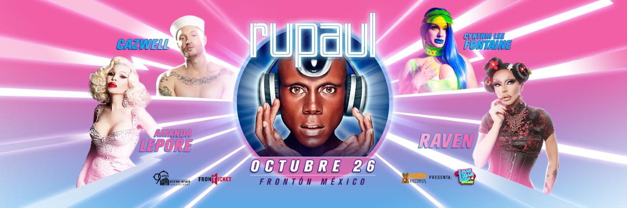 RuPaul viene a CDMX para presentarse como DJ.