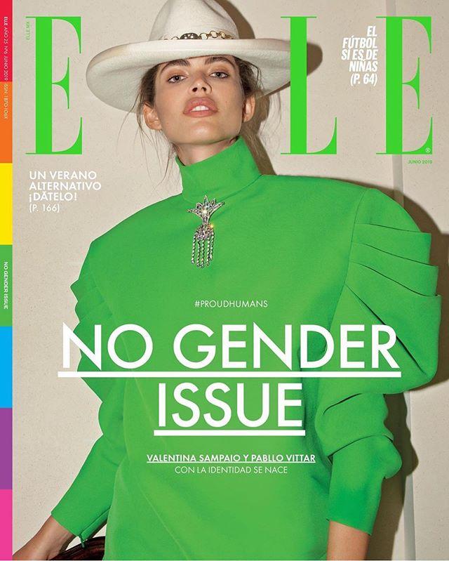 Valentina Sampaio fue la primera modelo trans en la portada de Elle México