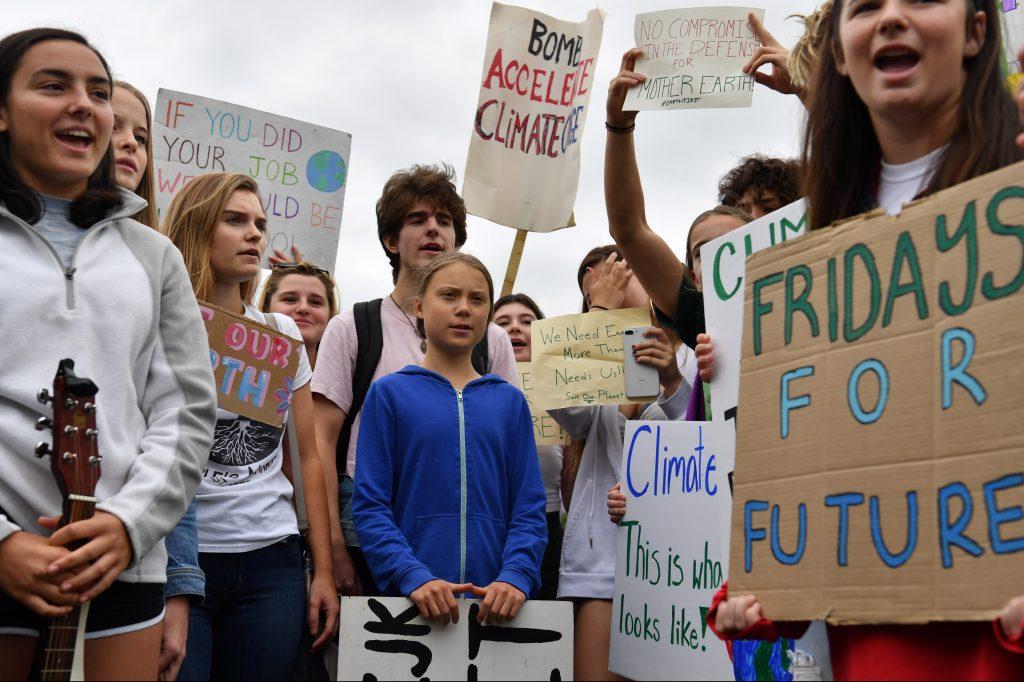 Greta Thunberg, la activista sueca que inició #FridaysforFuture, una iniciativa para cuidar el medio ambiente