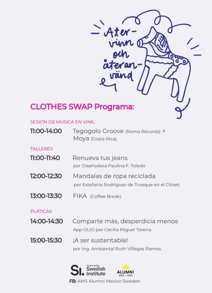 Actividades para el intercambio de ropa en CDMX