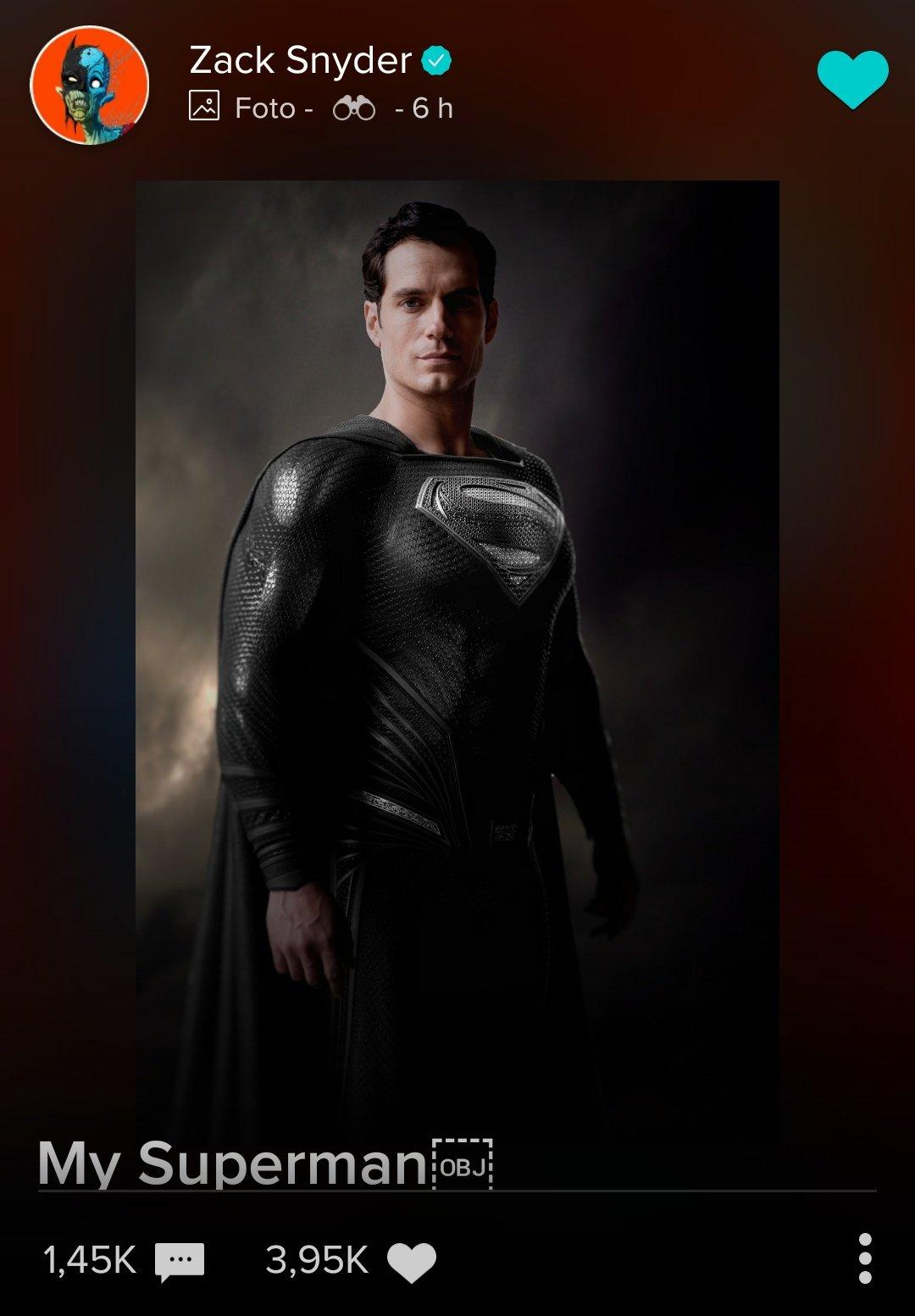 superman traje negro zack snyder