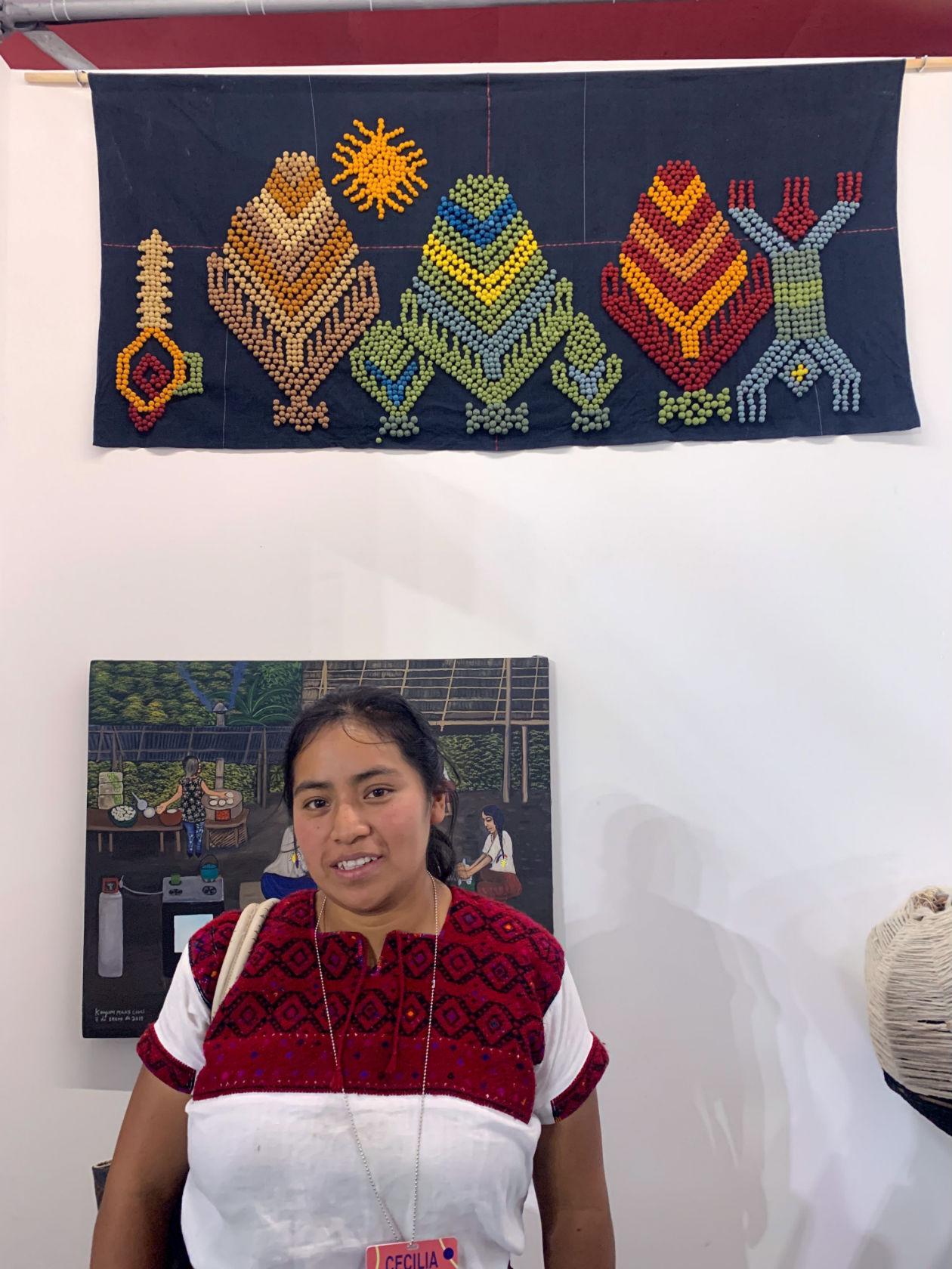 Cecilia Gómez Díaz es una artista textil tzotzil originaria de Chiapas.