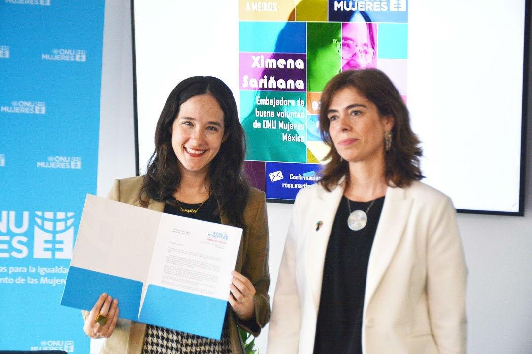 Ximena Sariñana es la primera embajadora de la buena voluntad en ONU Mujeres en México