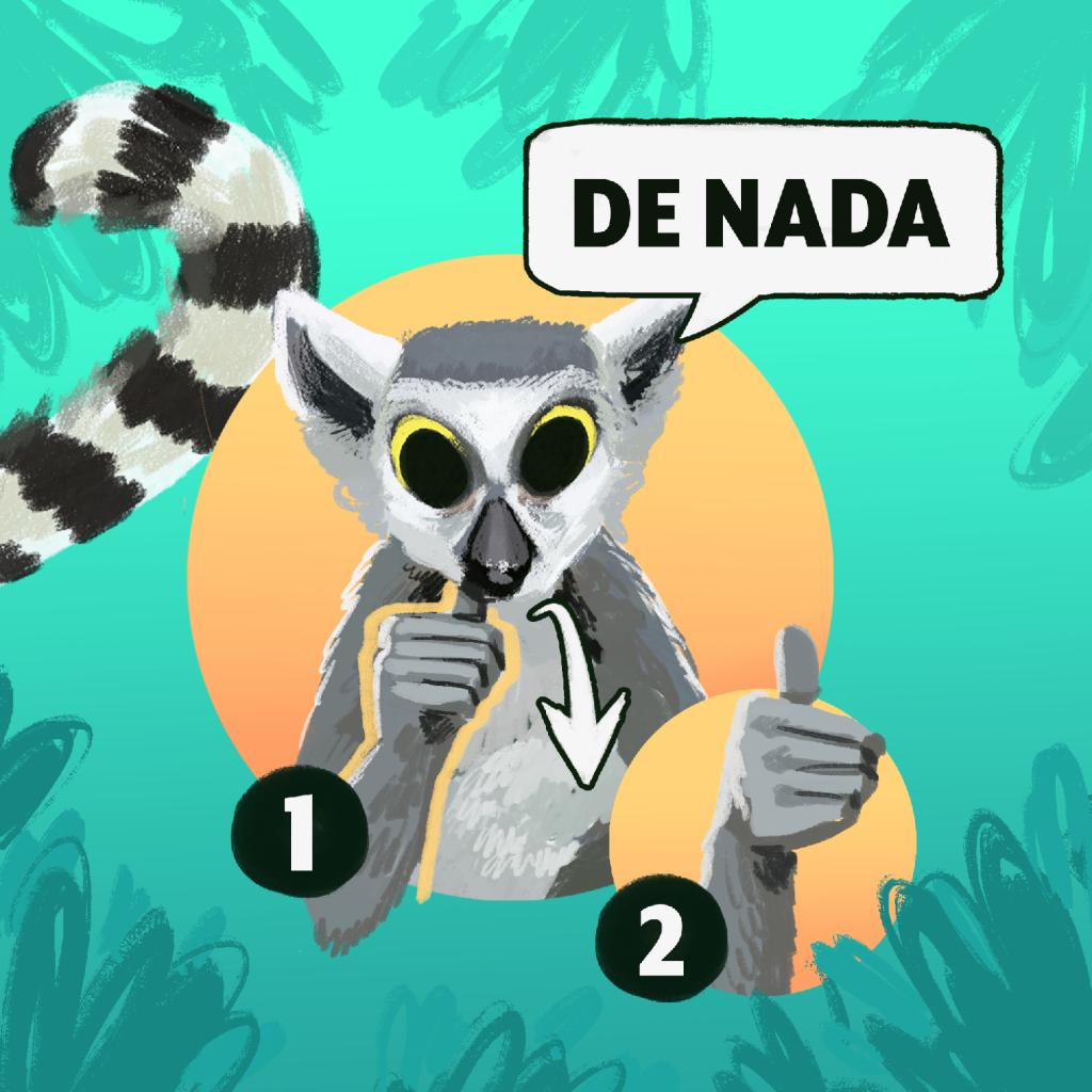 """""""De nada"""" en Lengua de Señas Mexicana"""