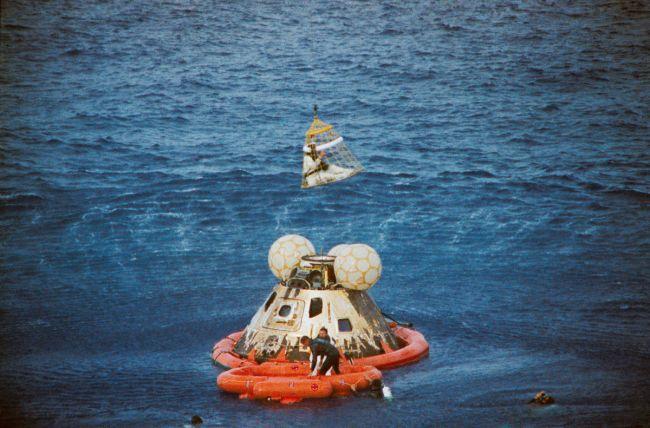 La tripulación regresó a salvo el 17 de abril de 1970. Foto: NASA
