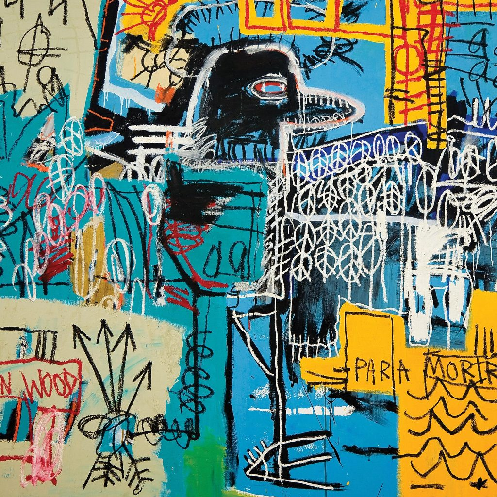 """Bird on money"" es una obra de Basquiat. Foto: Facebook oficial The Strokes"
