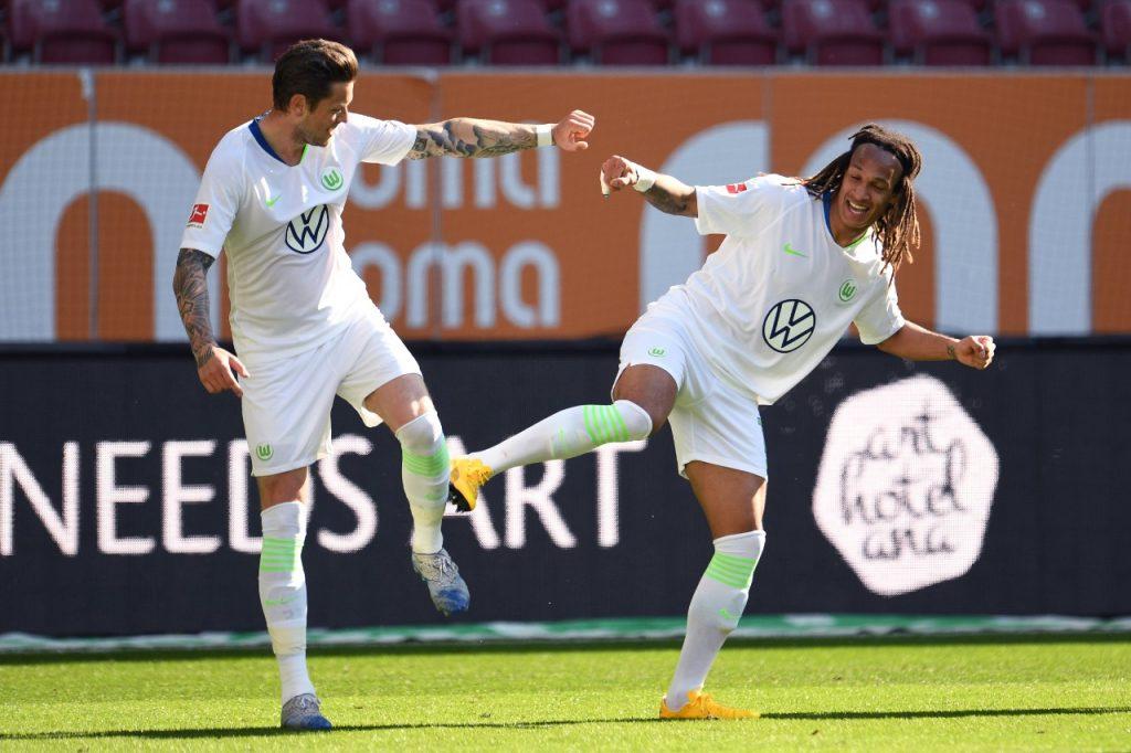 Los jugadores se pusieron creativos con las celebraciones. Foto: AFP