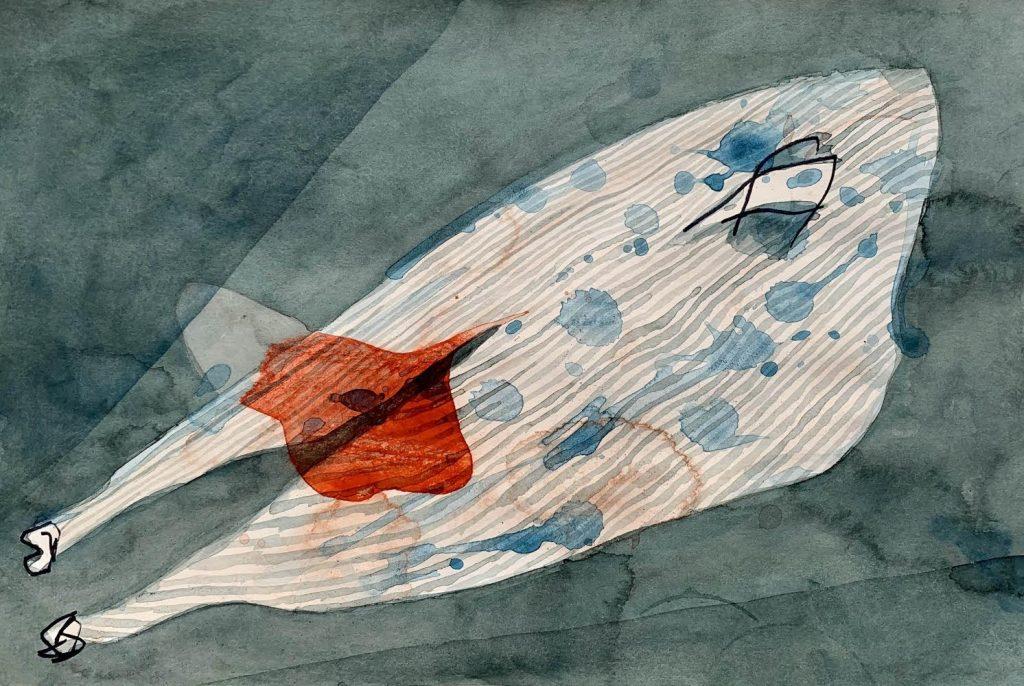 Obra de Ray Smith para proyecto 'Cascadas Tróficas' de Galería Ethra.