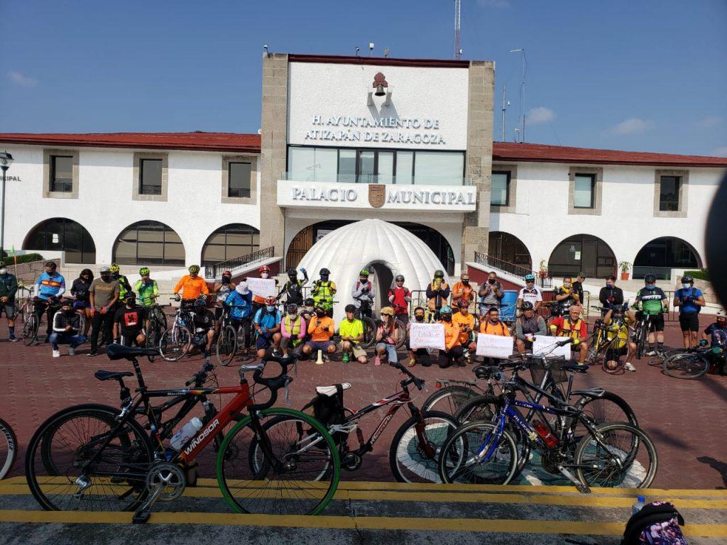 El colectivo Soy Movilidad, de Atizapán, Edomex, también participa en la rodada ciclista godín.