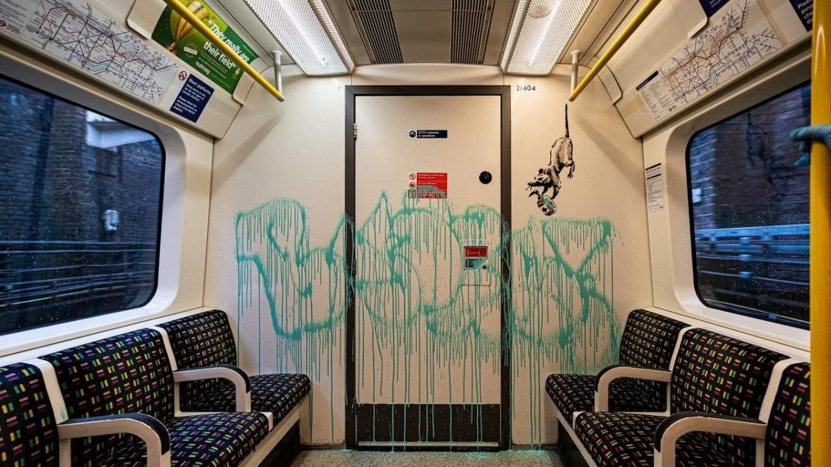 banksy metro londres