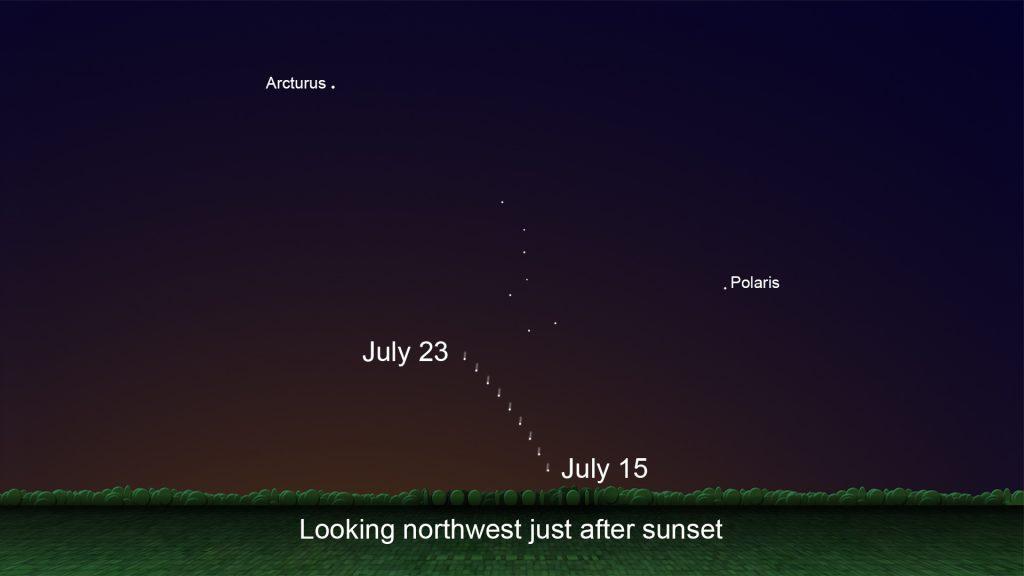 trayectoria del cometa Neowise. Imagen: NASA