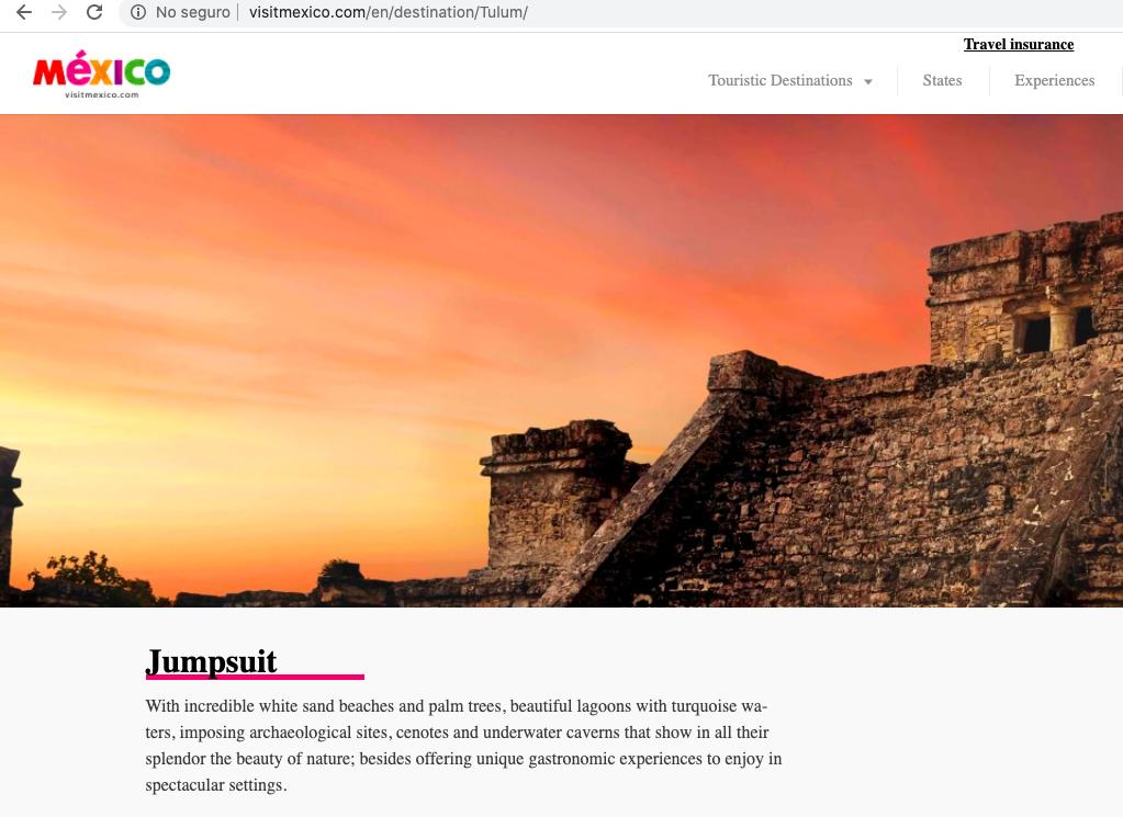 Visit México traducciones Tulum