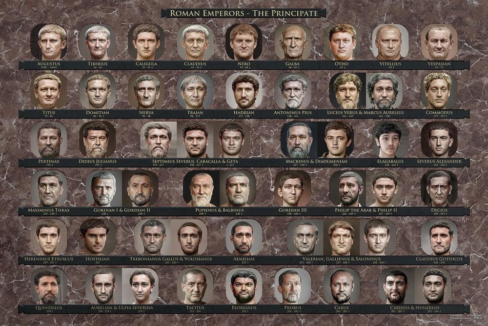 Así se verían varios emperadores romanos en la vida real. Foto: Daniel Voshart
