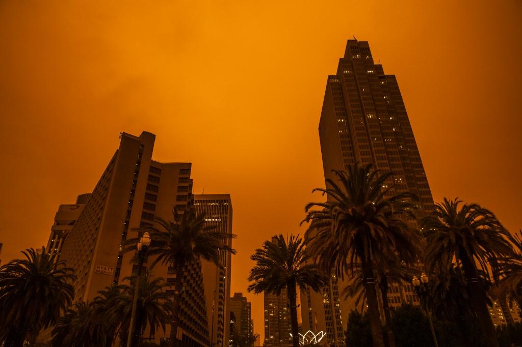 San Francisco, California, durante los incendios. Foto: Philip Pacheco | AFP