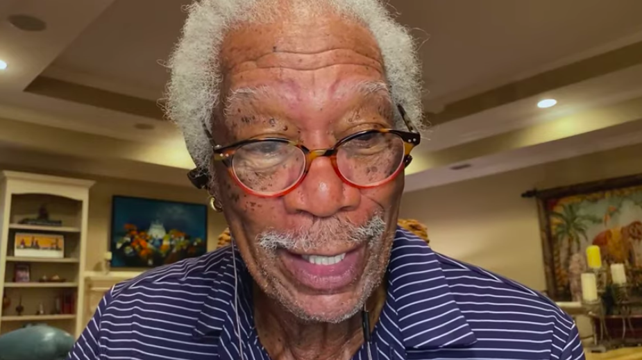 Morgan Freeman fue el narrador del guión que reunión a Jennifer Aniston y Brad Pitt. Foto: YouTube CORE org