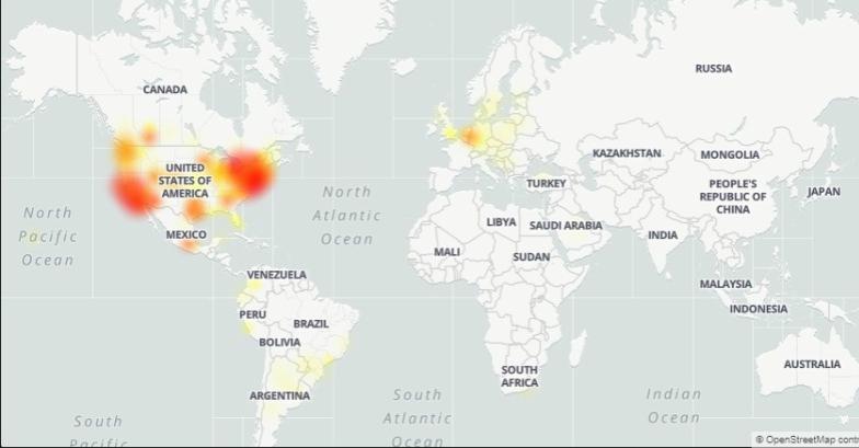 Falla Spotify en todo el mundo. Foto: Downdetector