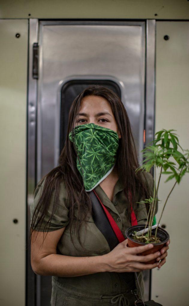 Los manifestantes viajaron del Metro Pino Zuárez al Metro Insurgentes. Foto: Carlo Echegoyen