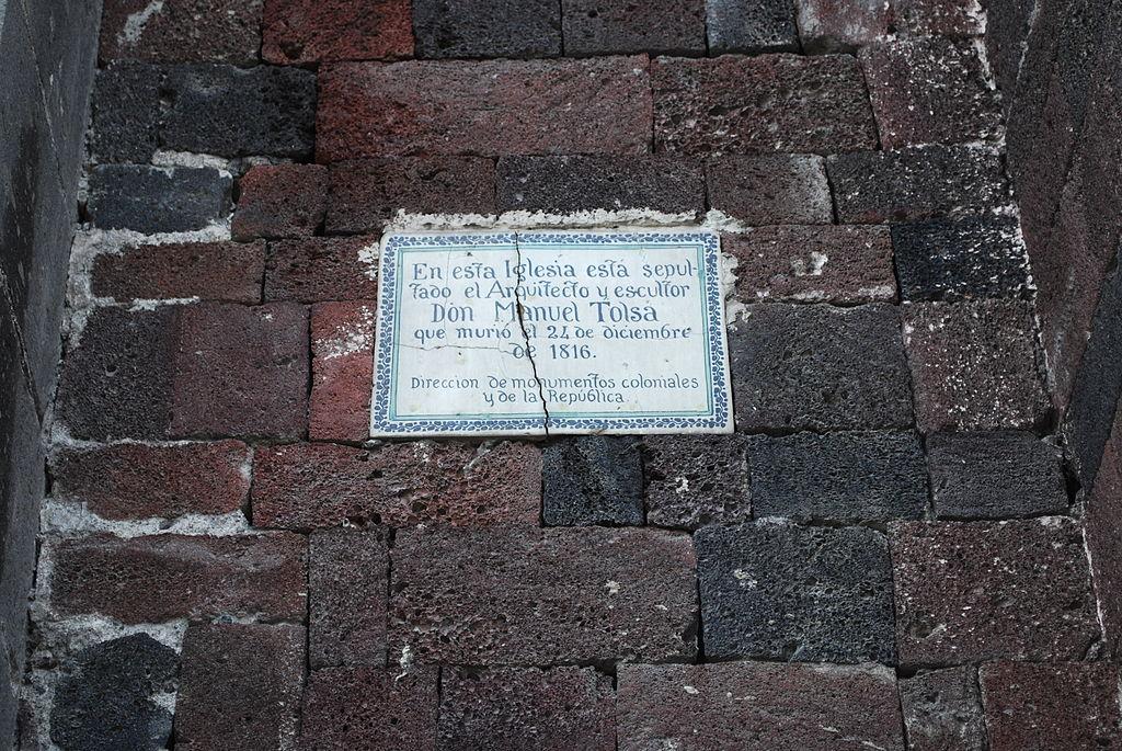 Manuel Tolsá está enterrado en el templo de la Santa Veracruz, en el Centro de CDMX. Foto: Wikimedia Commons