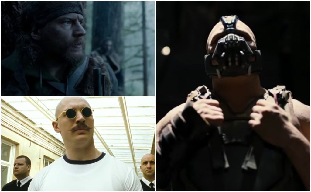 Tom Hardy en distintos papeles de villano.