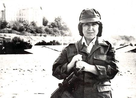 Svetlana Alexiévich en Kabul. Foto: Nobel Prize.org