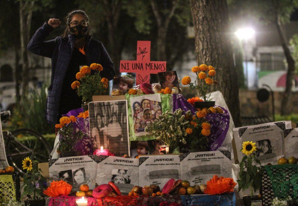 En Xochimilco recuerdan a las mujeres asesinadas en la alcaldía. Foto: Rogelio Morales | Cuartoscuro
