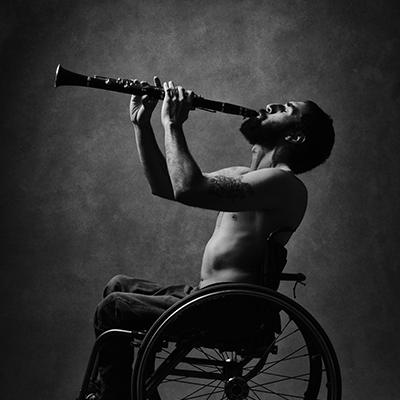 Música en silla de ruedas. Foto: Yo También