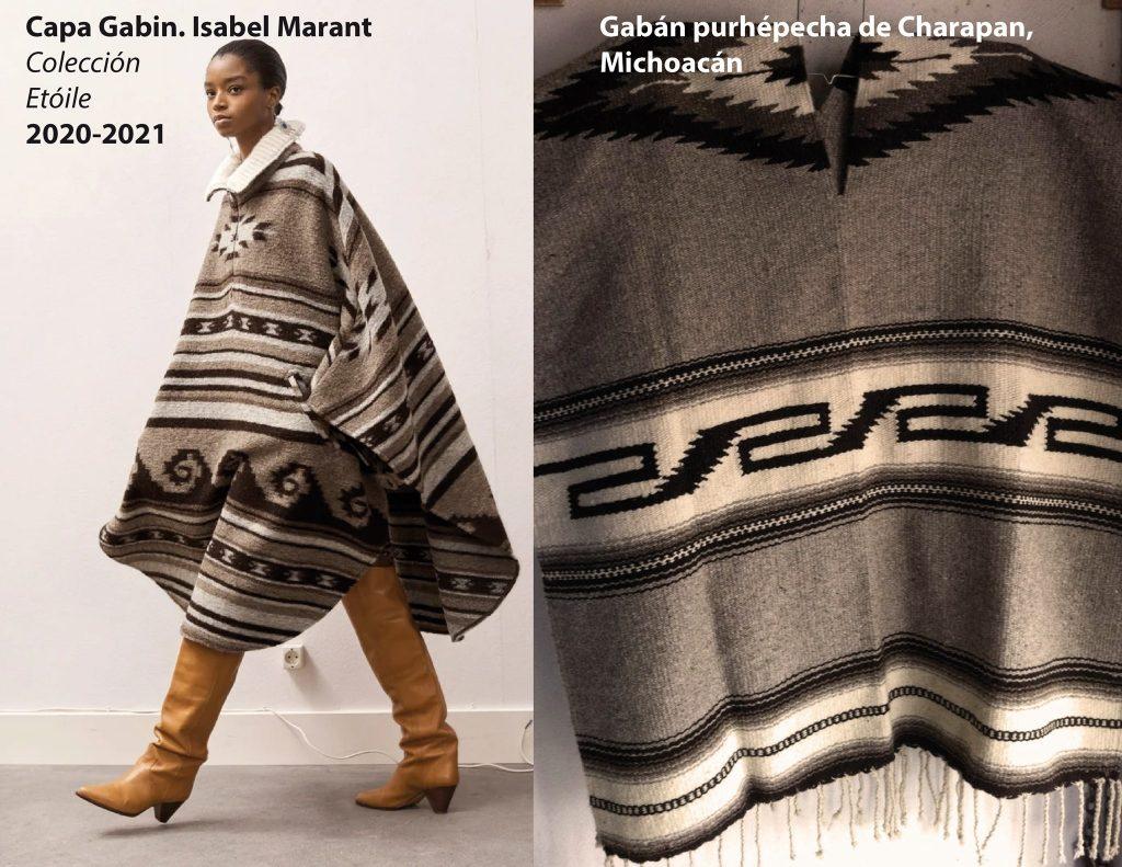 Gabán purépecha vs abrigo de Isabel Marant.