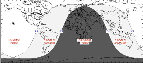 Dónde se verá el eclipse penumbral de Luna noviembre 2020. Imagen: NASA