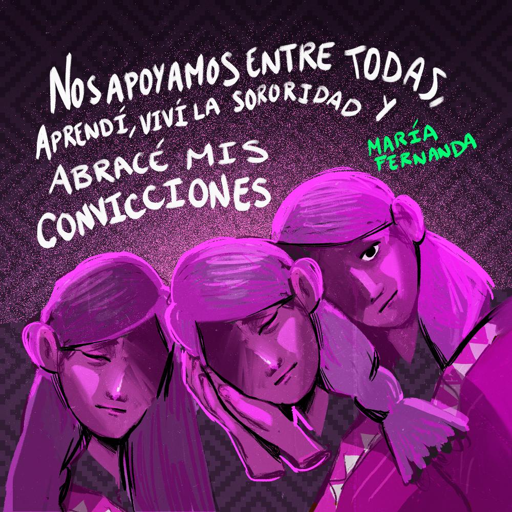 Testimonio María Fernanda Monroy. Ilustración: @Driu_Paredes
