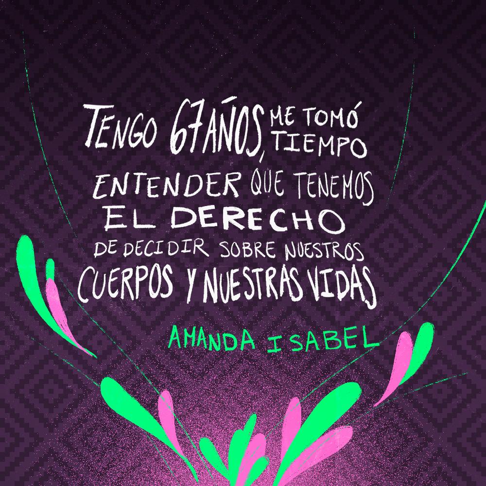 Testimonio de Amanda Isabel González. Ilustración: @Driu_Paredes