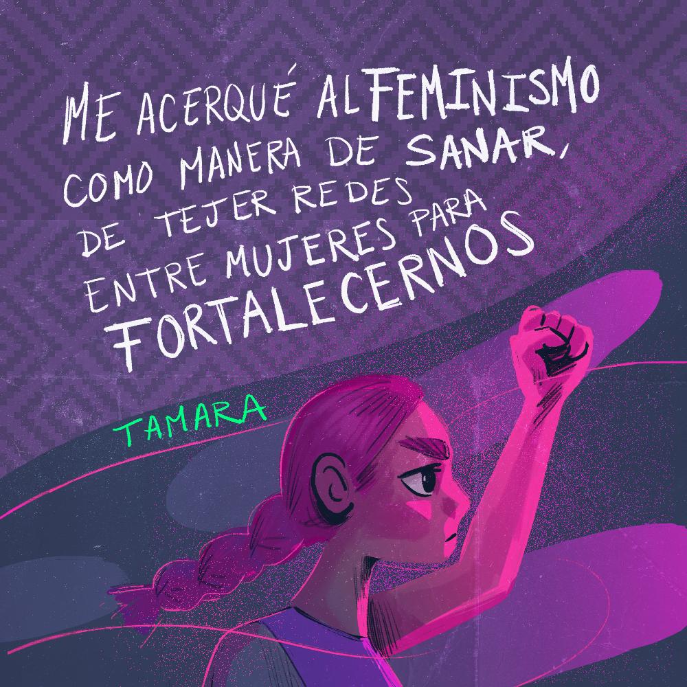 Testimonio Tamara Mares Rivera. Ilustración: @Driu_Paredes