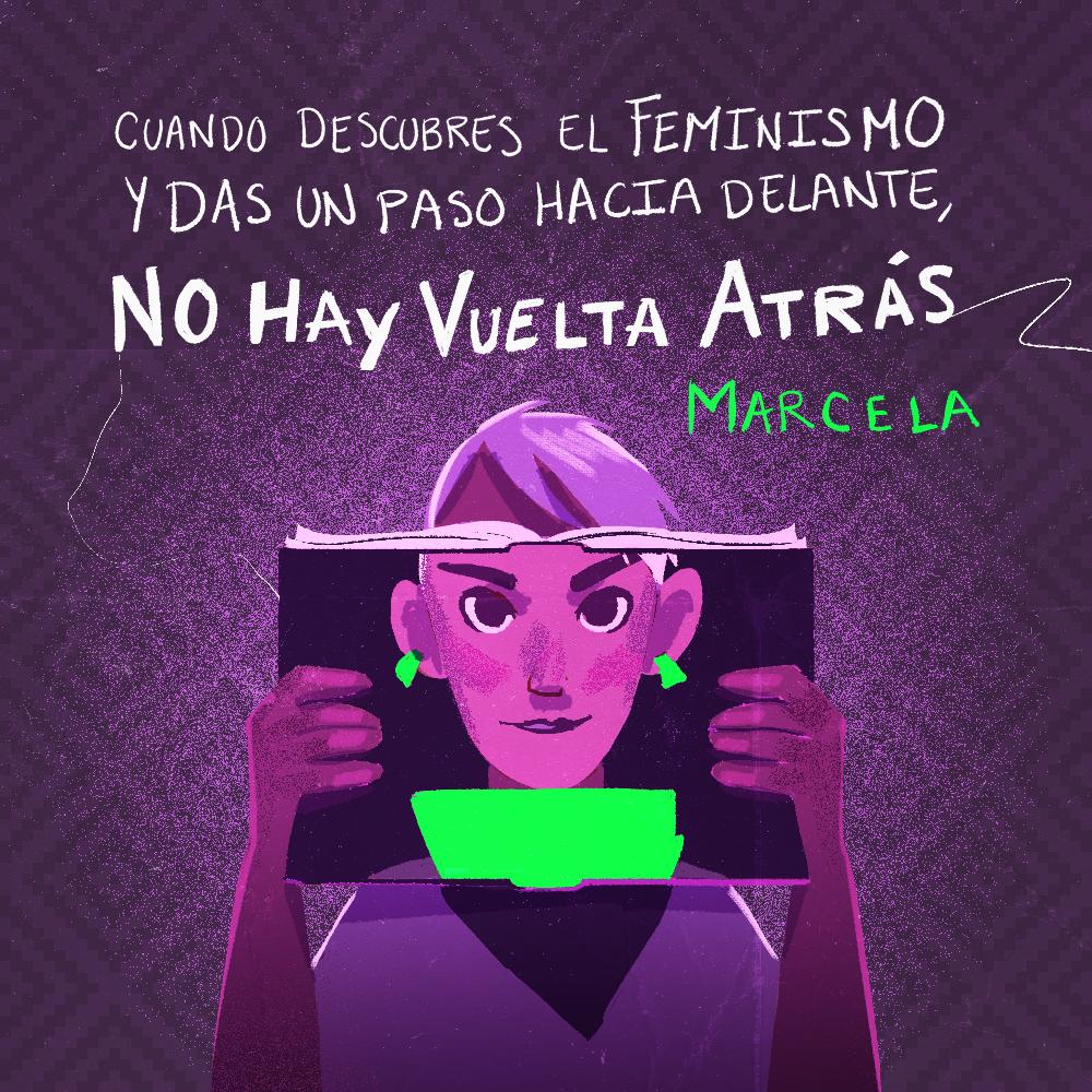 Testimonio Marcela Ríos. Ilustración: @Driu_Paredes