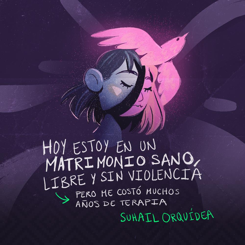 Testimonio de Suhail Orquídea Rivera Durán. Ilustración: @Driu_Paredes