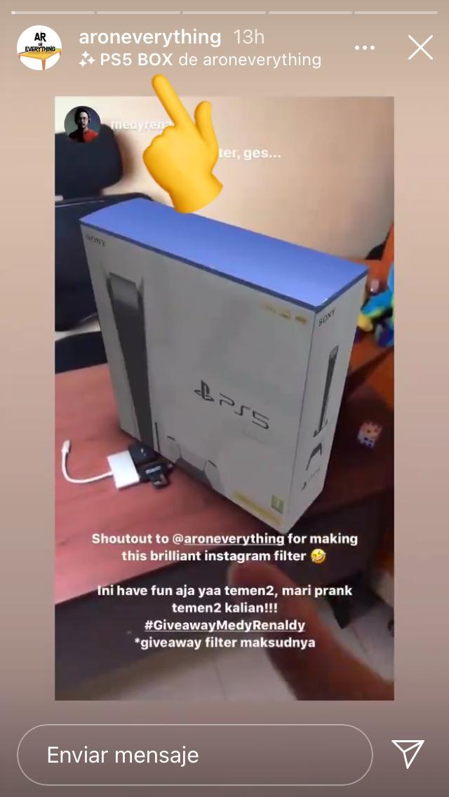 Filtro instagram playstation 5