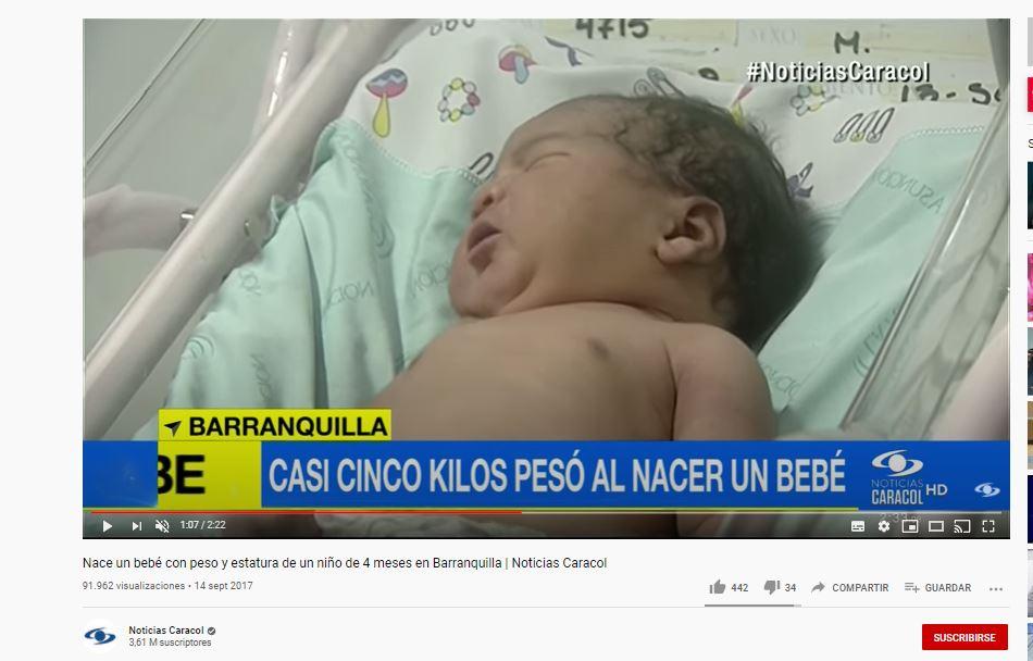 Captura de publicación noticias Caracol