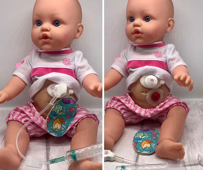 Clare espera que las niñas con discapacidad se identifiquen con sus muñecas. Foto: Clare Tawell