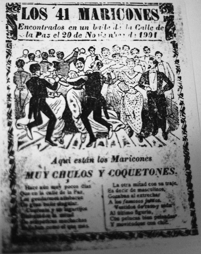 En 1901, el periódico de la CDMX 'Hoja Suelta' publicó sobre 'El baile de los 41', con una viñeta hecha por José Guadalupe Posada. (Foto: Wikimedia Commons)