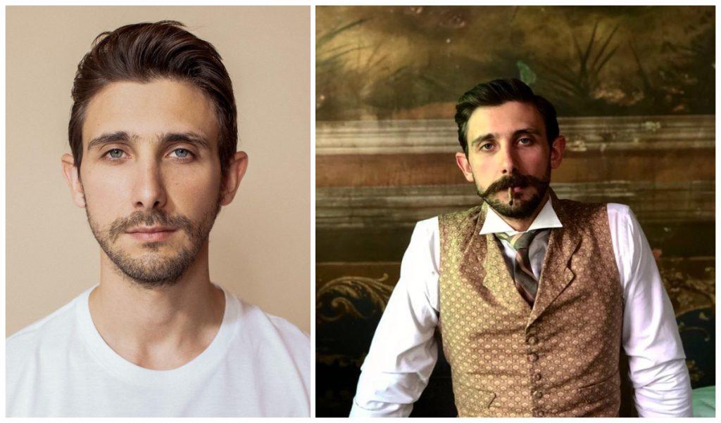 Emiliano Zurita interpreta a Evaristo Rivas, pareja sentimental de Ignacio de la Torre. (Fotos: IG @zurita7)