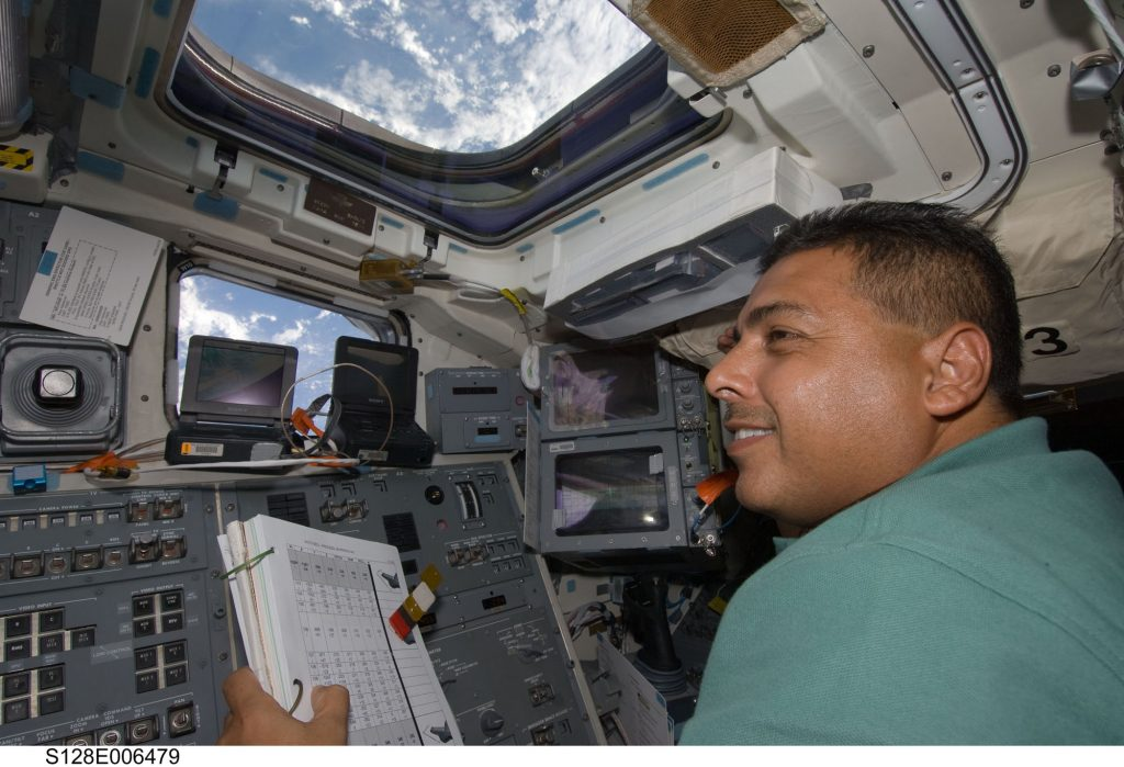 José Hernández on one of his missions in space.  Photo: NASA