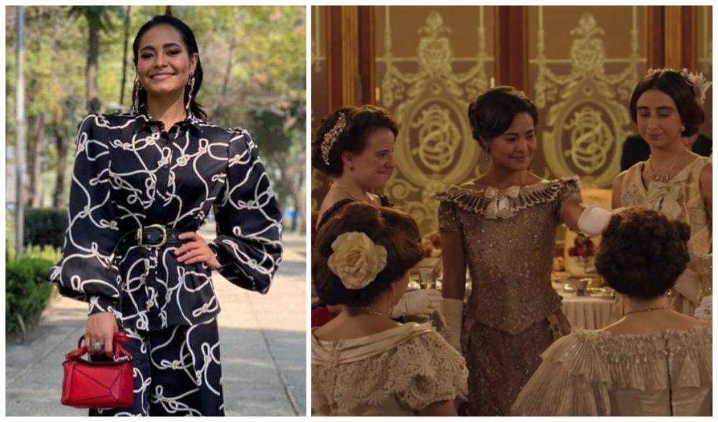 La actriz Mabel Cadena interpreta a Amada Díaz, hija de Porfirio Díaz. (Fotos: IG @mabel__cadena | captura de pantalla trailer de la película)