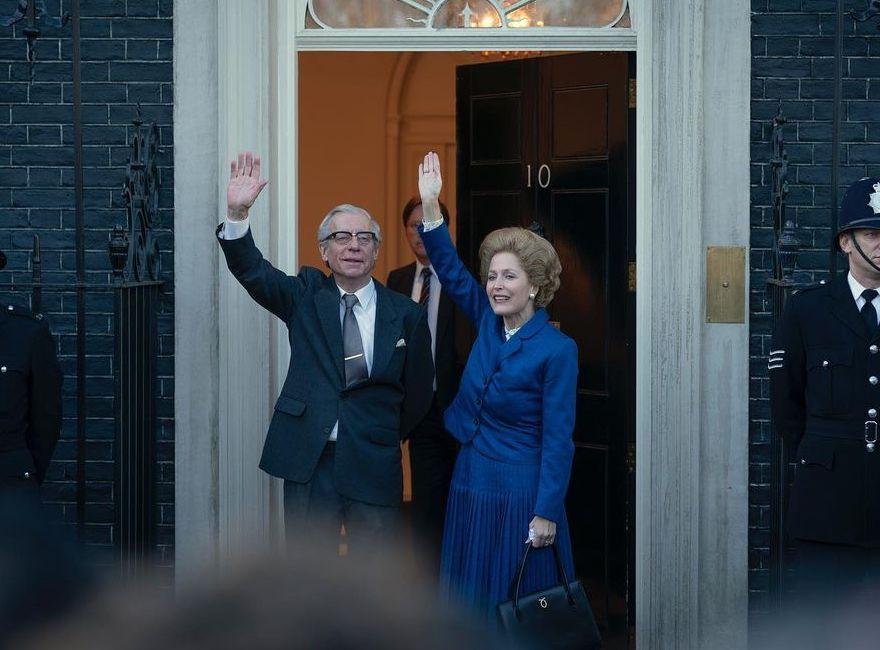 Gillian Anderson interpreta a Margaret Thatcher en The Crown. Foto: @thecrownnetflix