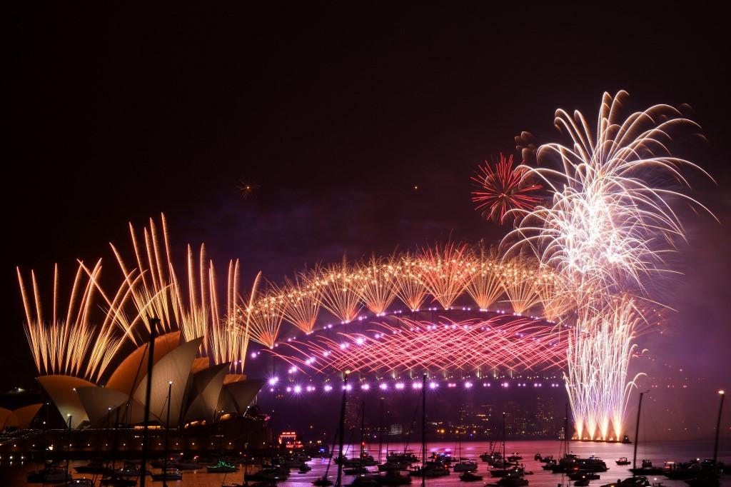 Año nuevo 2021 en Australia. Foto: AFP