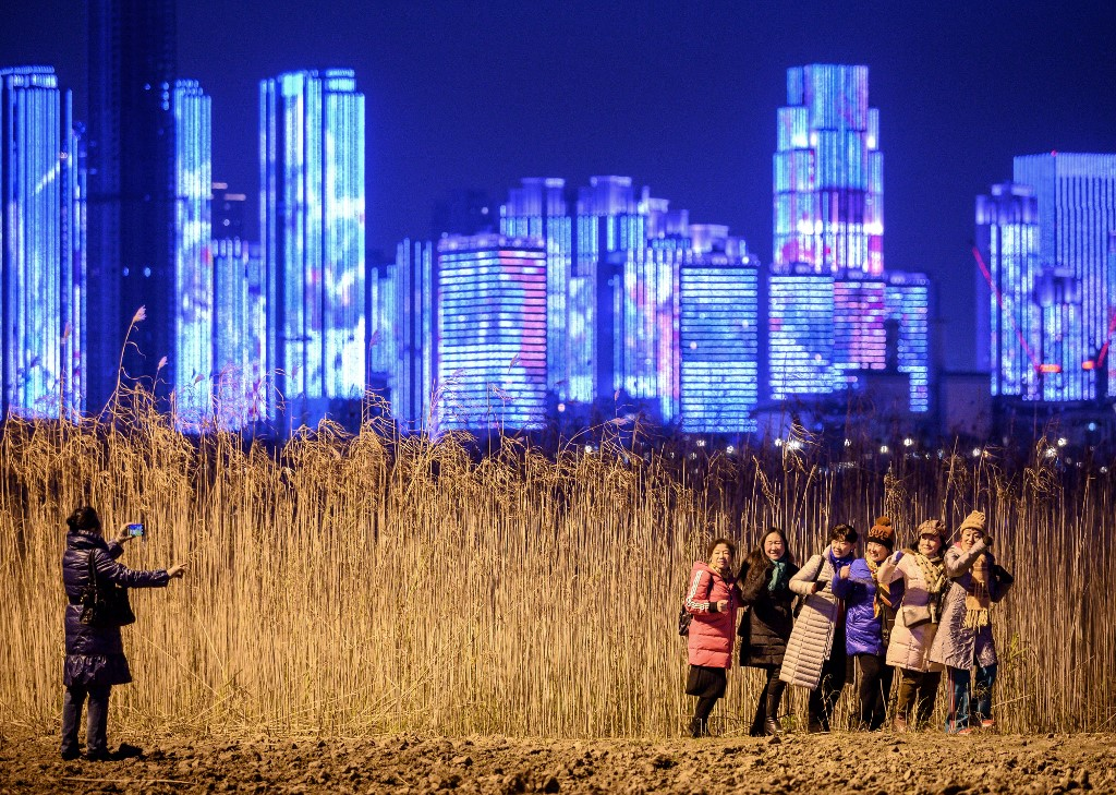 Año nuevo en wuhan china. foto afp