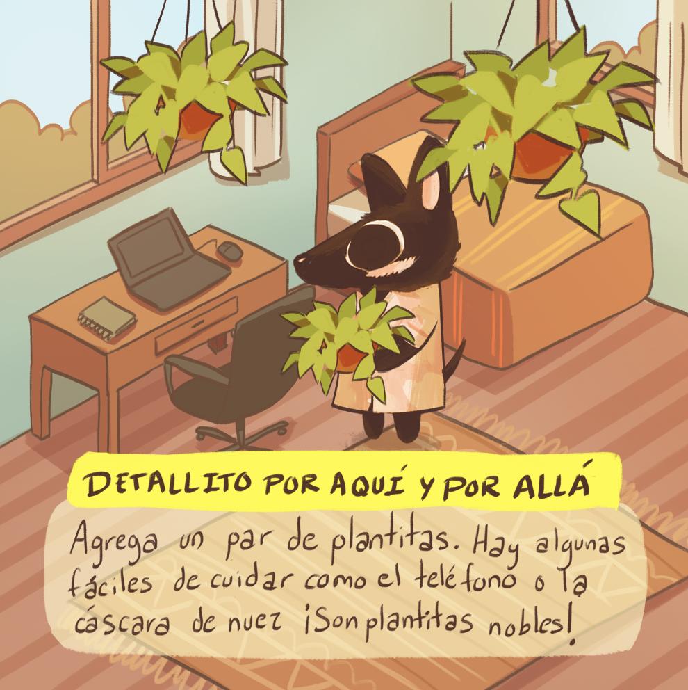 plantas adecuadas para home office