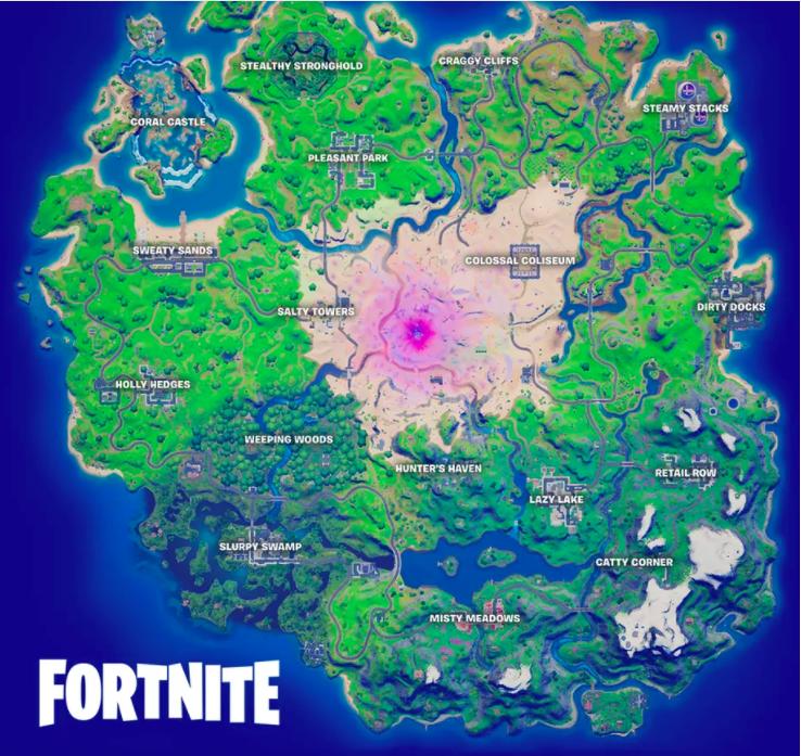 mapa fortnite temporada 5 capitulo 2